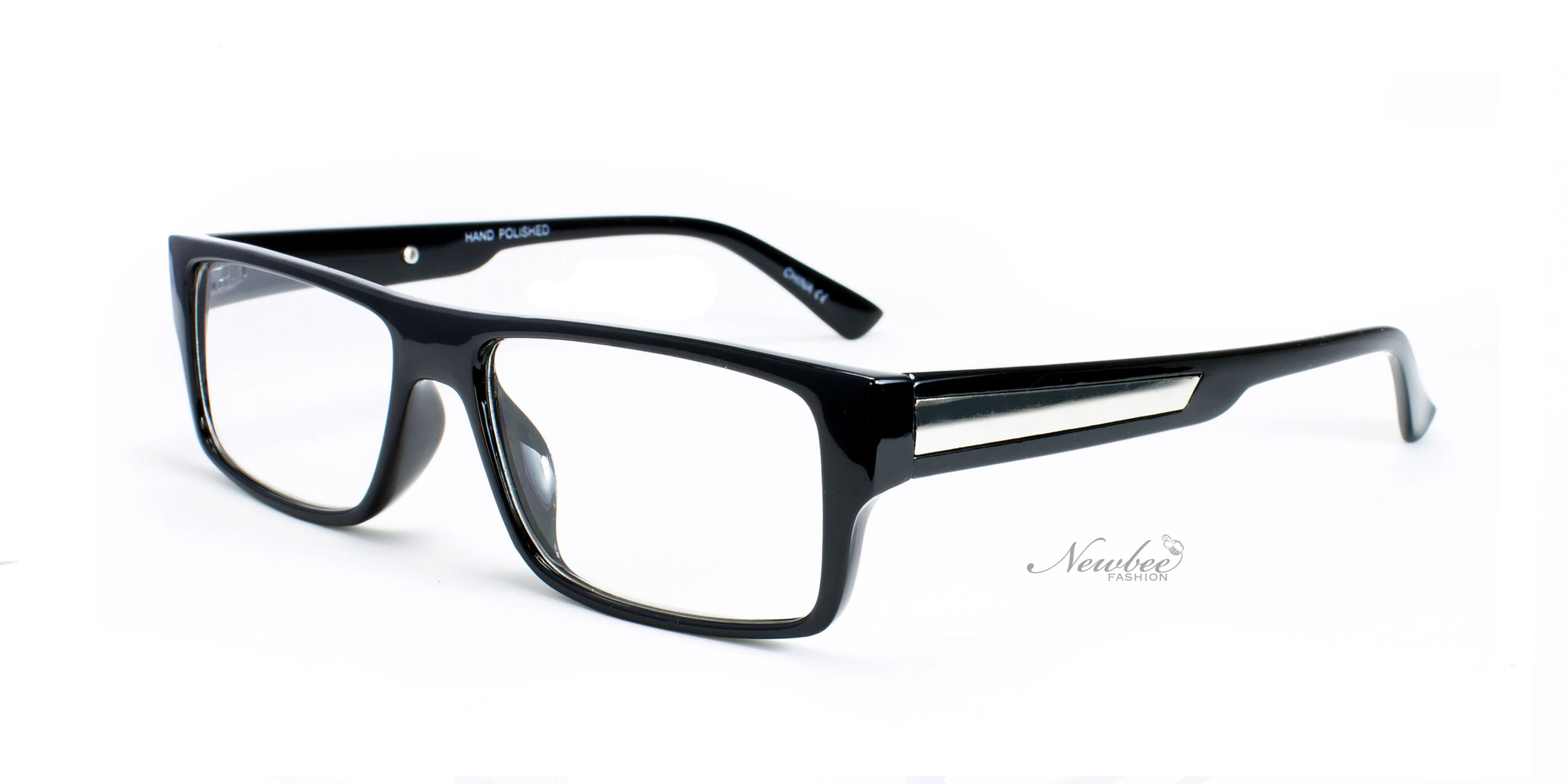 Glasses Frames With Prescription : Classic Glossy Black Frame with Clear Non Prescription ...