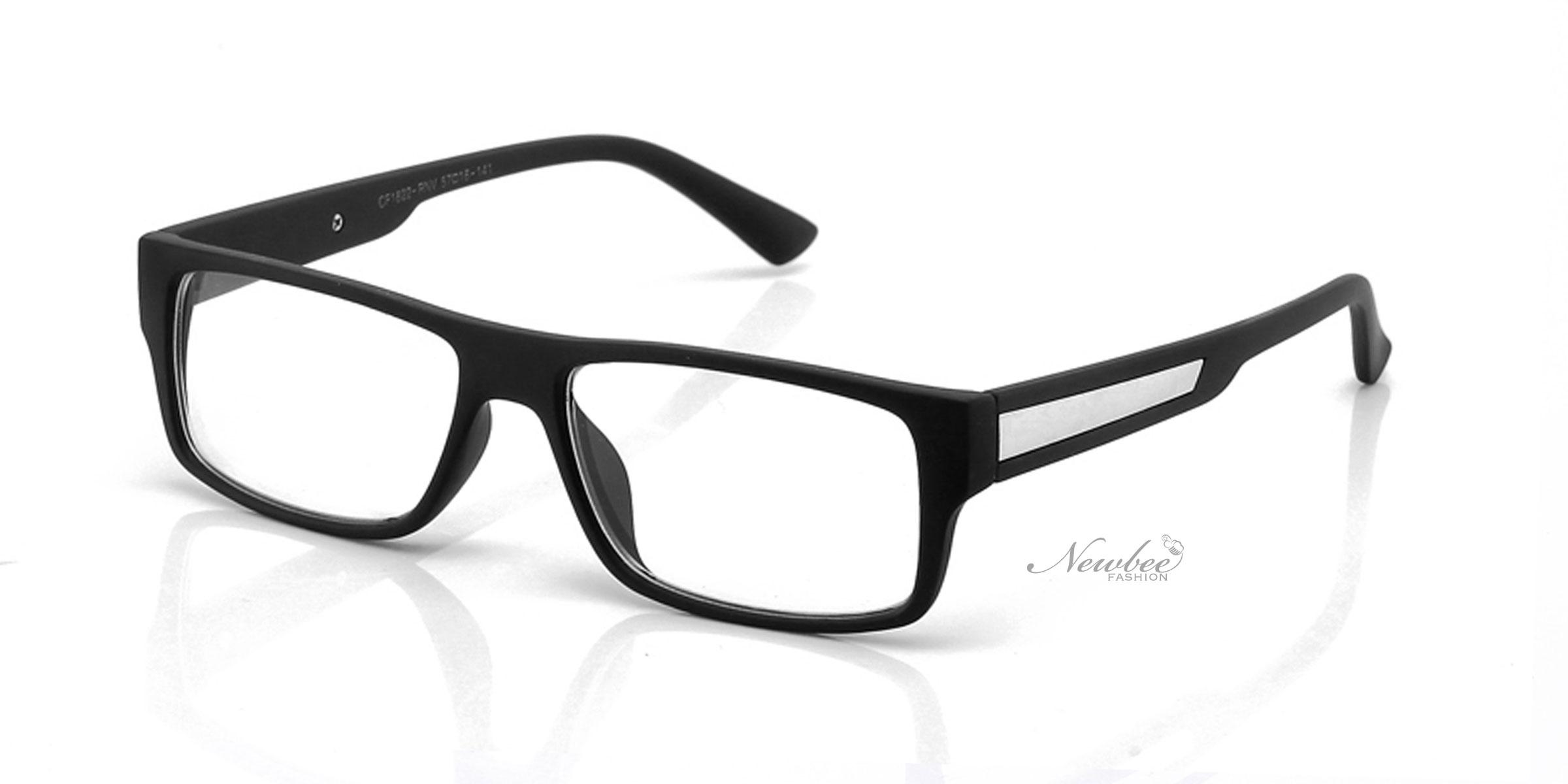 Black Frame Glasses Without Prescription : Classic Clear Lens Non Prescription Glasses with a Matte ...
