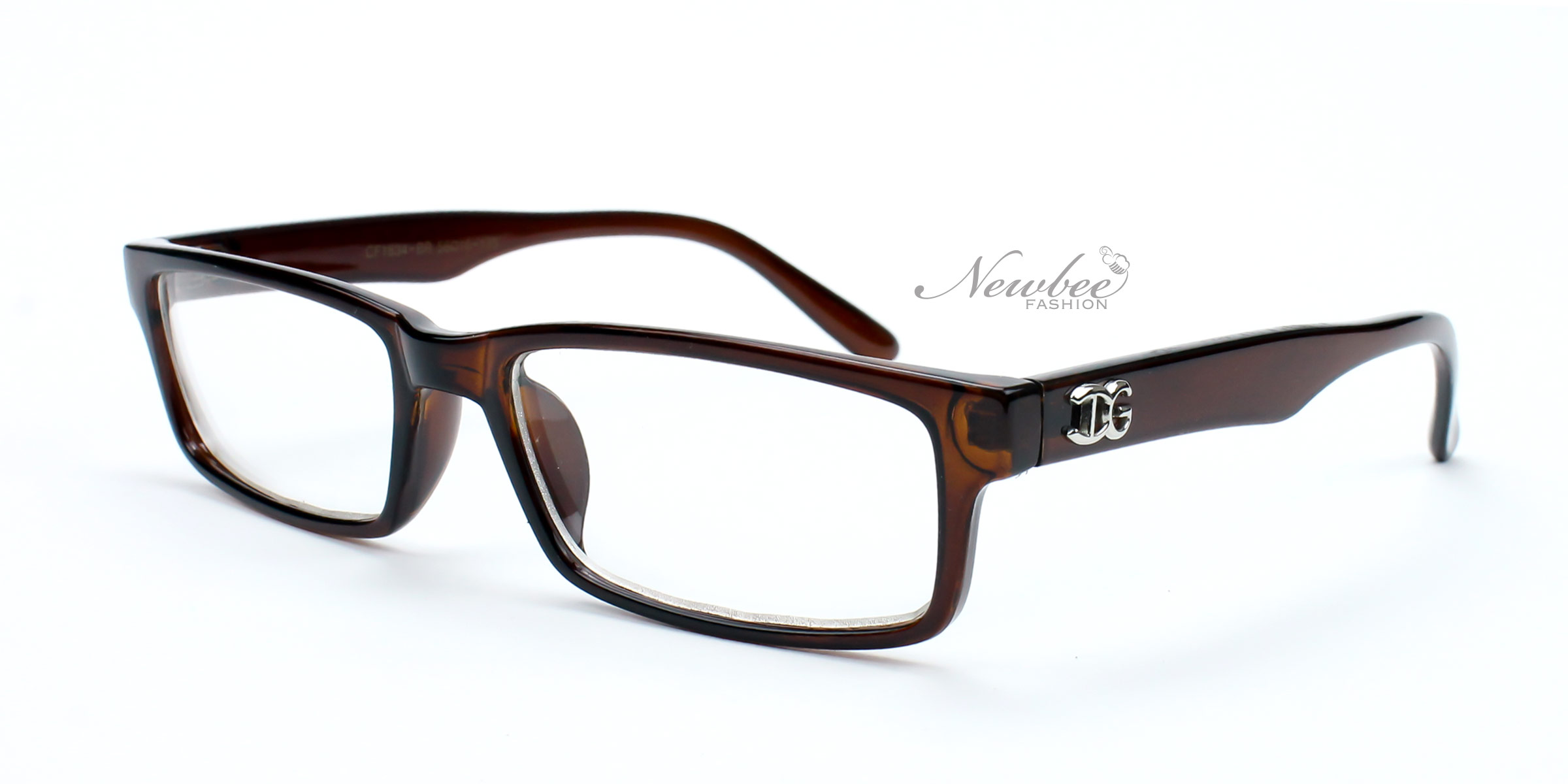Black Frame Glasses Non Prescription : Black Teal Rectangular Frame Non Prescription Clear Lens ...