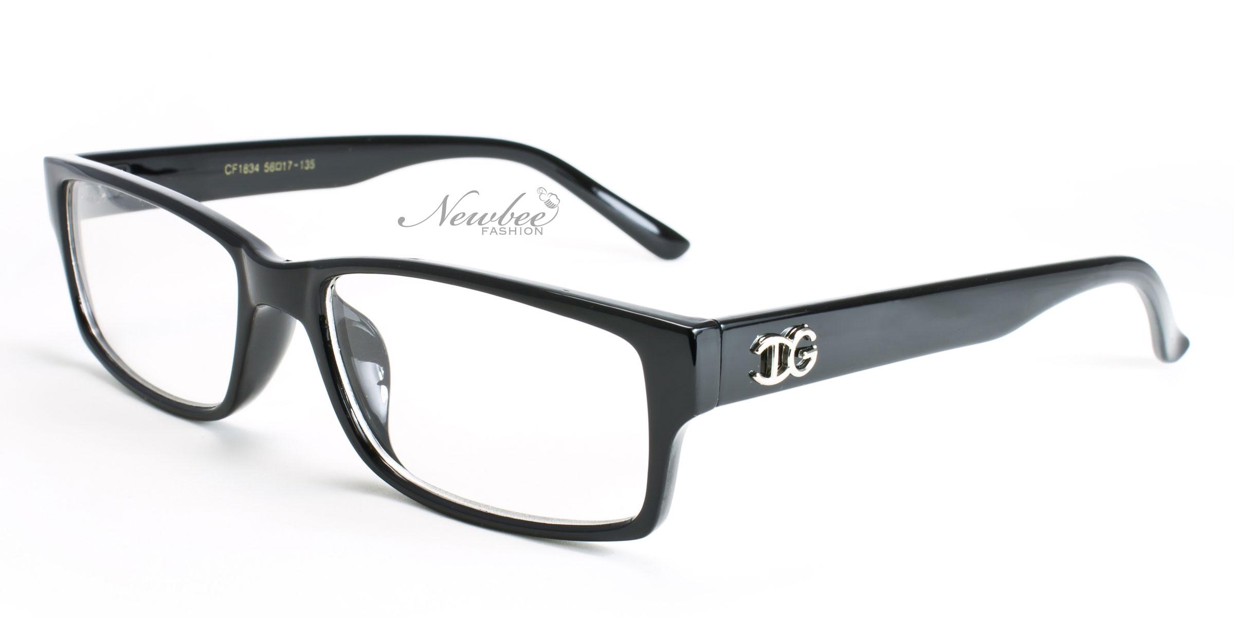 Black Frame Glasses Without Prescription : Black Clear Lens Glasses Men Women Unisex Classic Non ...