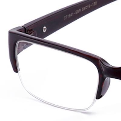 tortoise black half frame clear lens glasses fashionable