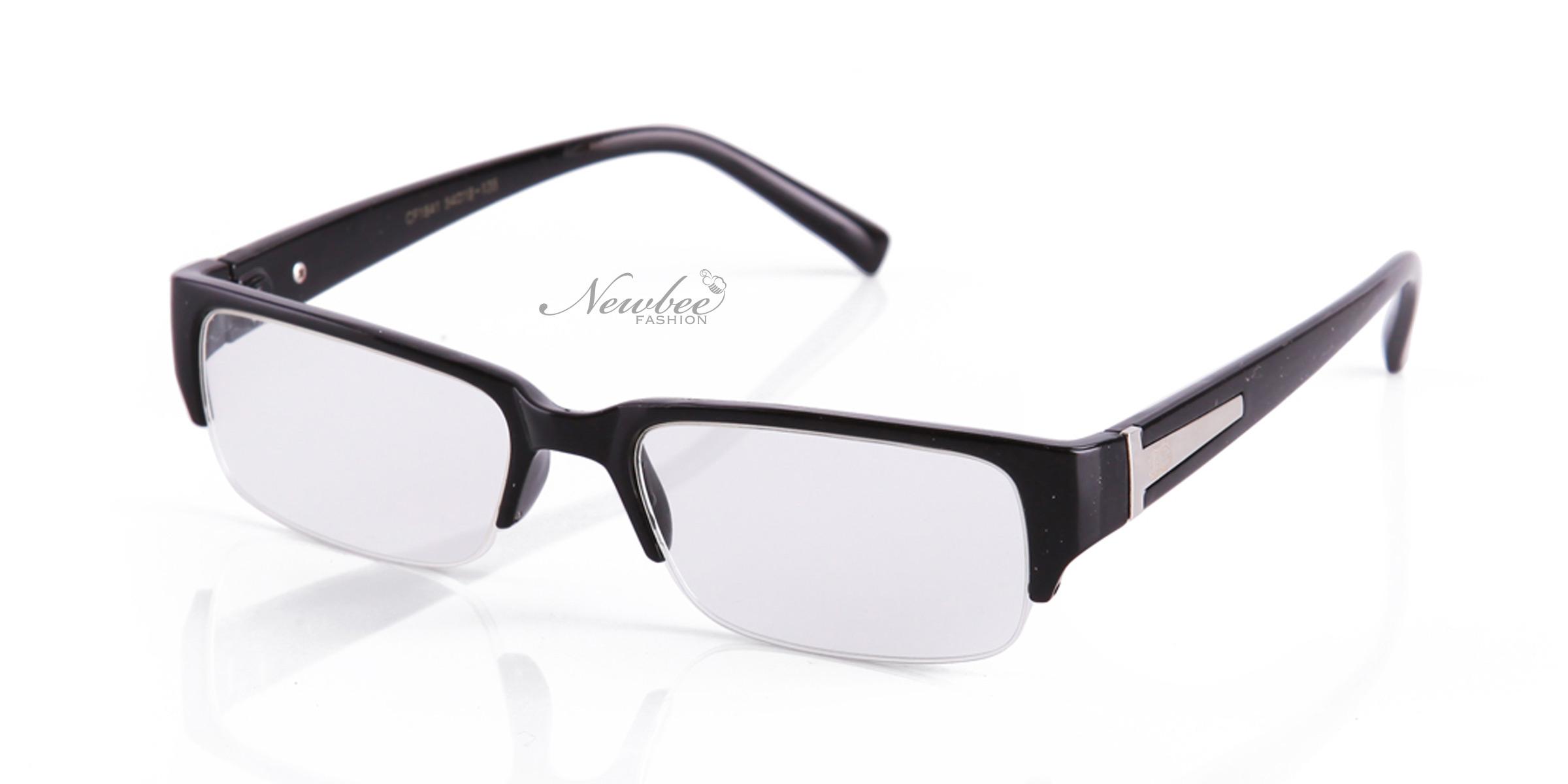 Tortoise Black Half Frame Clear Lens Glasses Fashionable ...
