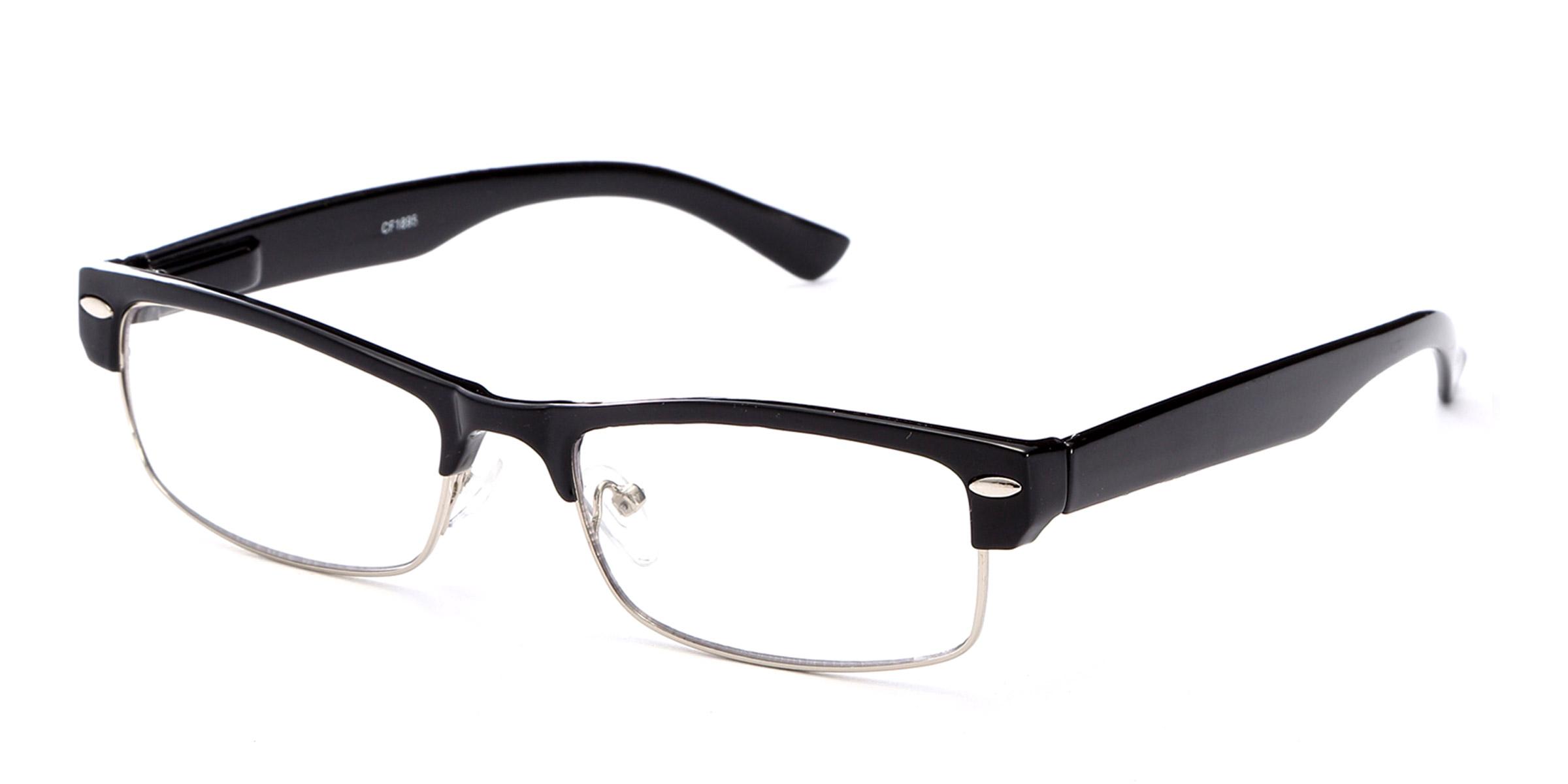 Clic Half Frame Black Reading Glasses : 2 Pack Half Frame Reading Glasses Classic Black Flat Brown ...