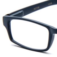 Unisex Brown Rubber Coated Frame Grip Slim Reading Glasses ...